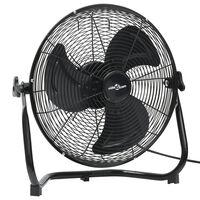 vidaXL Pastatomas ventiliatorius, juodas, 45cm, 3 greičiai, 60W