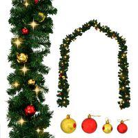 vidaXL Kalėdinė girlianda papuošta žaisliukais ir LED lemputėmis, 20m