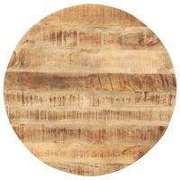 vidaXL Table Top Solid Mango Wood Round 15-16 mm 50 cm