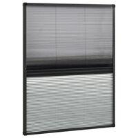 vidaXL Tinklelis nuo vabzdžių langams, 80x100cm, aliuminis, plisuotas
