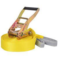 vidaXL Balansinė juosta, 15m x 50mm, 150 kg, geltonos sp.
