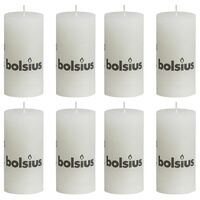 Bolsius Žvakės, 8vnt., baltos spalvos, 100x50mm, cilindro formos