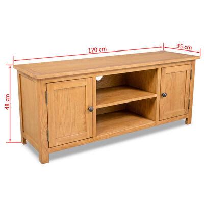 vidaXL TV spintelė, 120x35x48cm, ąžuolo medienos masyvas