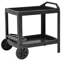 vidaXL Gėrimų vežimėlis, antracito spalvos, 69x53x72cm, plastikas