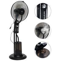 vidaXL Dulksną skleidžiantis pastatomas ventiliatorius, juodas