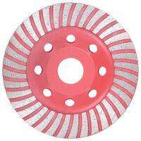 vidaXL Turbo deimantinis šlifavimo diskas, 115mm, lėkštės tipo