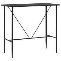 vidaXL Baro stalas, juodos spalvos, 120x60x110cm, MDF
