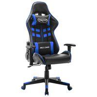vidaXL Žaidimų kėdė, juodos ir mėlynos spalvos, dirbtinė oda