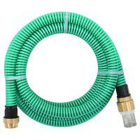 vidaXL Siurbimo žarna su žalvarinėmis jungtimis, žalia, 15m, 25mm
