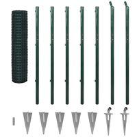 vidaXL Euro tvora, žalia, 10x1,96m, plienas