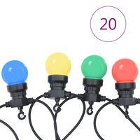 vidaXL Lauko lempučių girlianda, apskritos, 23m, 20 lempučių