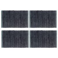 vidaXL Stalo kilimėliai, 4 vnt., antracito spalvos, 30x45cm, chindi