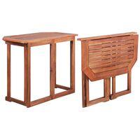 vidaXL Baro stalas, 90x50x75cm, akacijos medienos masyvas