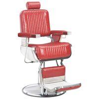 vidaXL Kirpėjo kėdė, raudona, 68x69x116 cm, dirbtinė oda