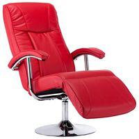 vidaXL TV krėslas, raudonos spalvos, dirbtinė oda