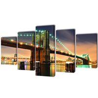 "Fotopaveikslas ""Bruklino Tiltas"" ant Drobės 200 x 100 cm"