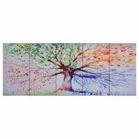 vidaXL Paveikslas ant drobės, įvairių spalvų, 200x80cm, lietas medis