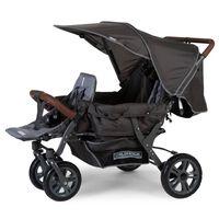 CHILDHOME Trivietis vežimėlis, antracito spalvos