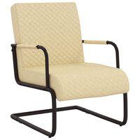 vidaXL Gembinė kėdė, kreminės spalvos, dirbtinė oda